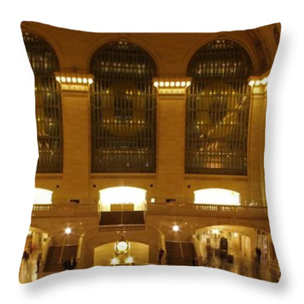 Grand Central Station Throw Pillow by Dan Sproul