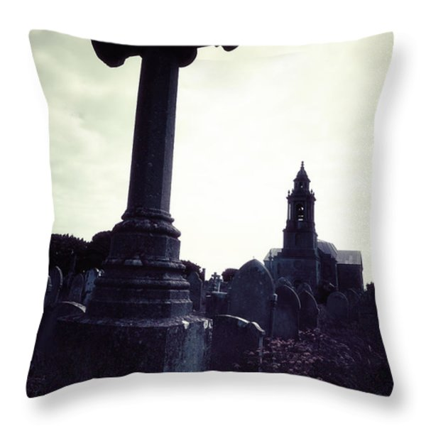 Graveyard Throw Pillow by Joana Kruse