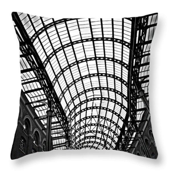 Hay's Galleria roof Throw Pillow by Elena Elisseeva