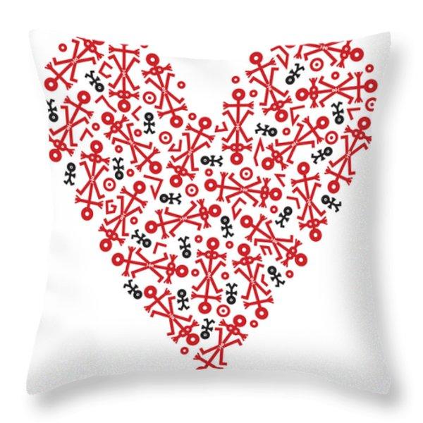 Heart Icon Throw Pillow by Thisisnotme