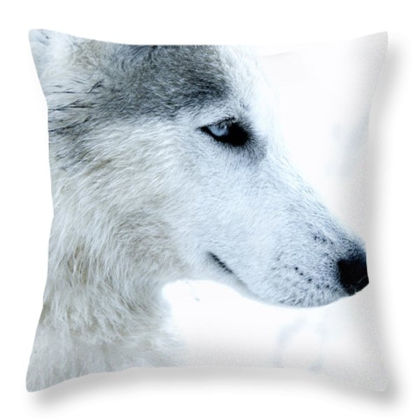 Husky Throw Pillow by Stylianos Kleanthous