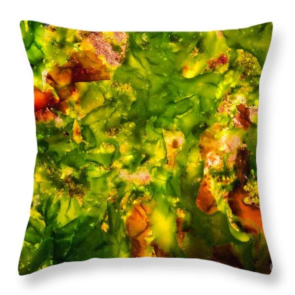 Kelp Forest Throw Pillow by Venetta Archer
