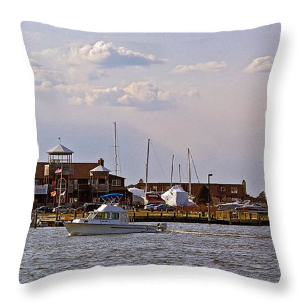 Kent Island Throw Pillow by Brian Wallace
