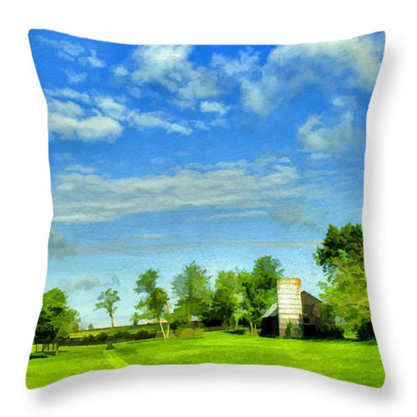 Kentucky Countryside Throw Pillow by Darren Fisher
