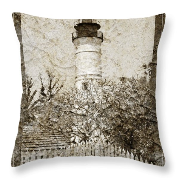 Key West Lighthouse Throw Pillow by John Stephens