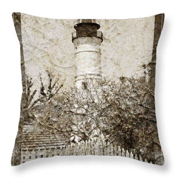 Key West Lighthouse Throw Pillow by John Stephens