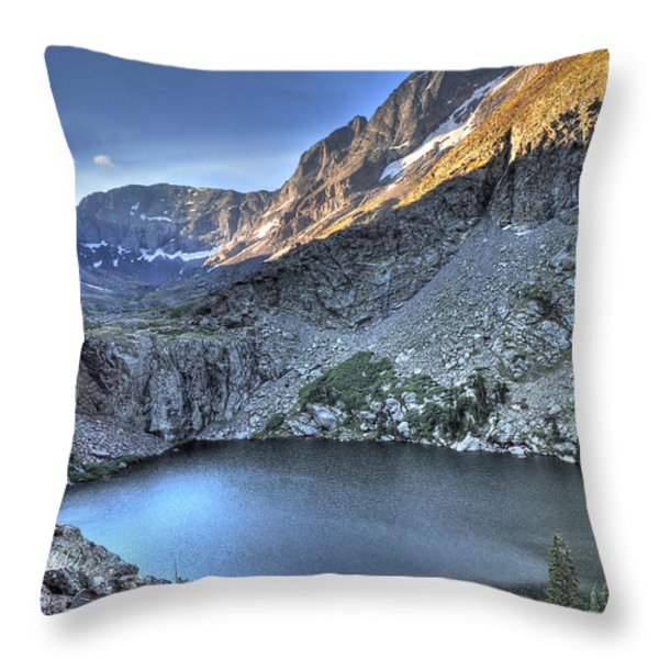 Kit Carson Peak And Willow Lake Throw Pillow by Aaron Spong