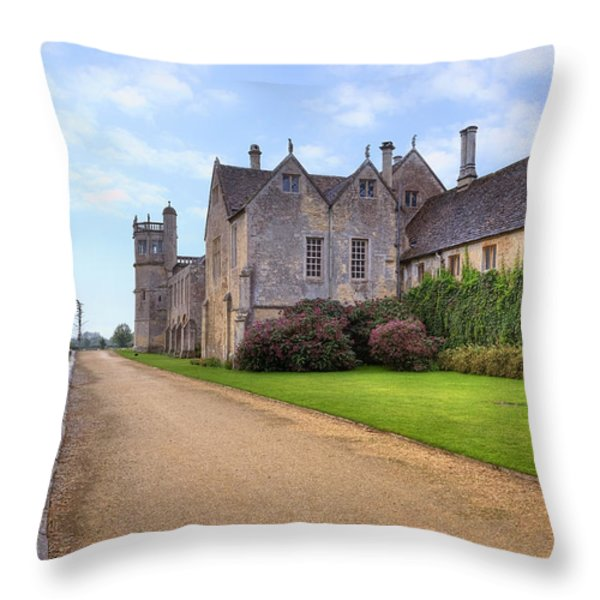 Lacock Abbey Throw Pillow by Joana Kruse