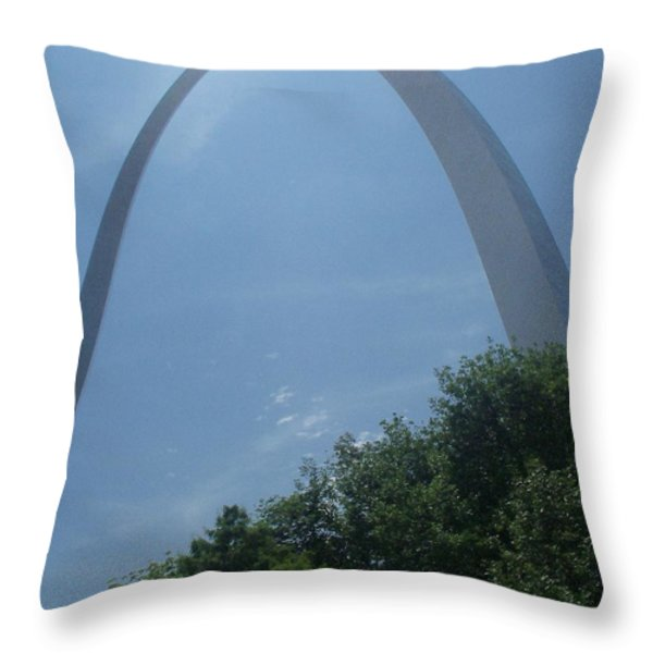 Laying Under The Arch Throw Pillow by Kelly Awad