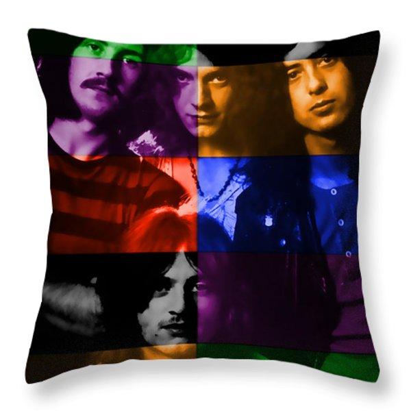 Led Zeppelin Throw Pillow by Marvin Blaine