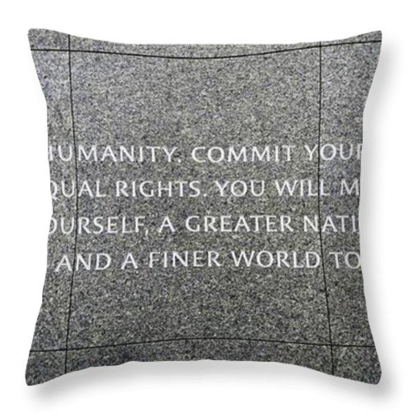 Martin Luther King Jr Memorial Throw Pillow by Allen Beatty