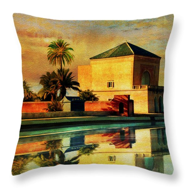 Medina of Marakkesh Throw Pillow by Catf
