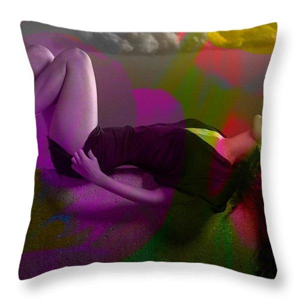 Megan Fox Throw Pillow by Marvin Blaine