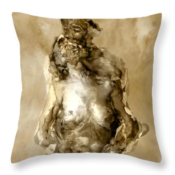 Melt Throw Pillow by Kurt Van Wagner