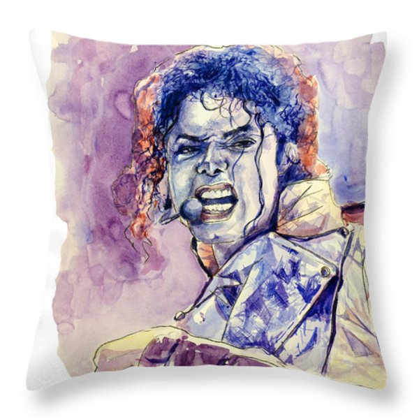 Michael Jackson Throw Pillow by MB Art factory