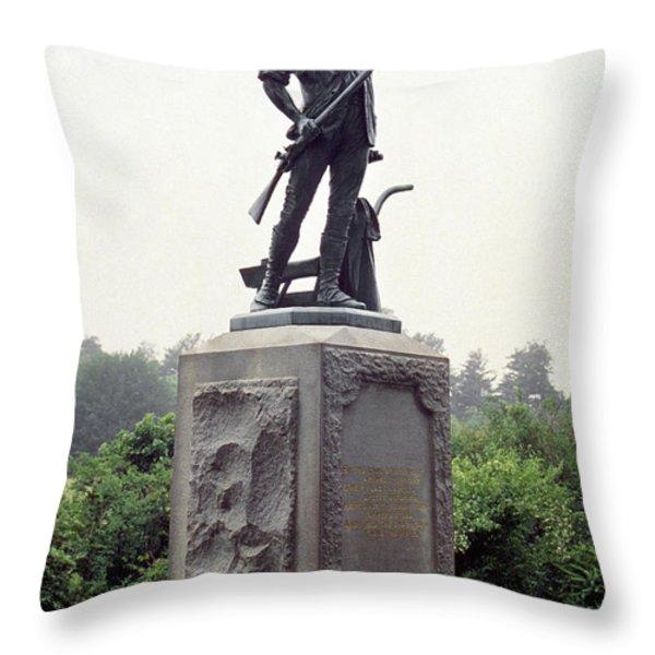 Minutemen Soldier Throw Pillow by Granger