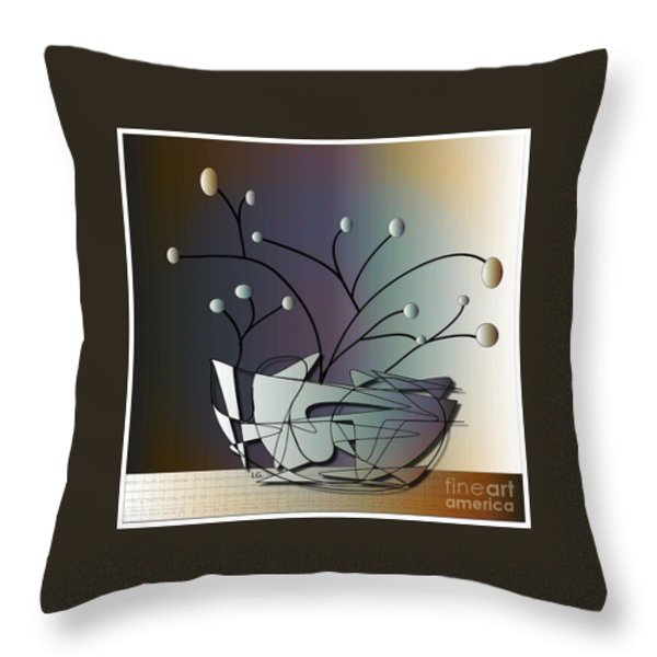 Mode Throw Pillow by Iris Gelbart