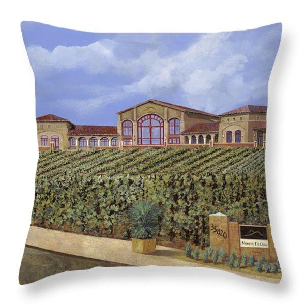 monte de Oro Throw Pillow by Guido Borelli