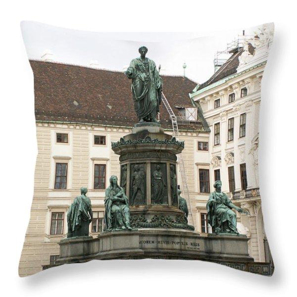 Monument Throw Pillow by Evgeny Pisarev
