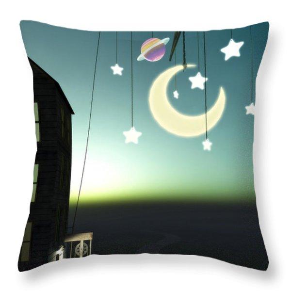 Moonrise Throw Pillow by Cynthia Decker