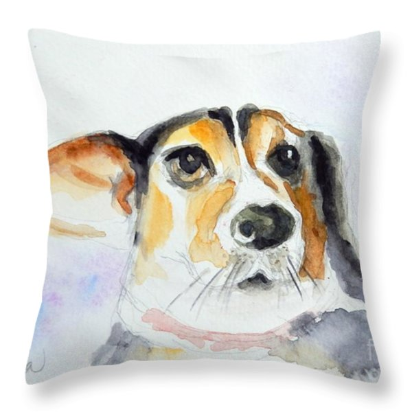 My Dog Throw Pillow by Yoshiko Mishina