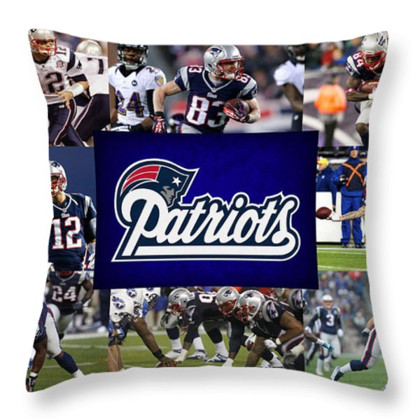 NEW ENGLAND PATRIOTS Throw Pillow by Joe Hamilton