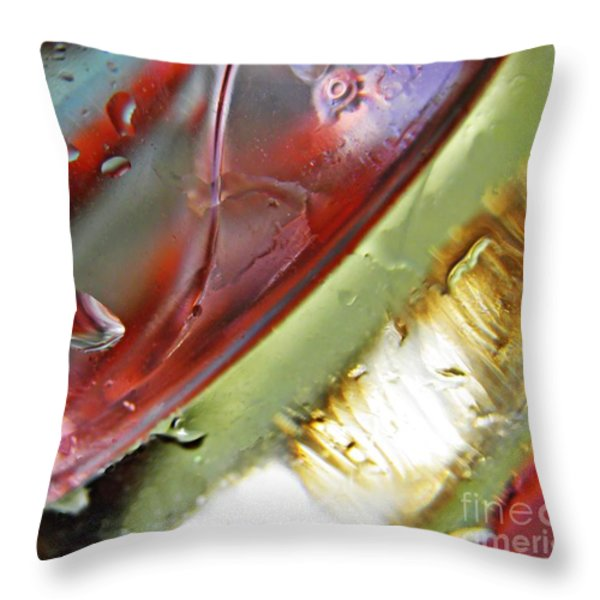 Oil And Water 27 Throw Pillow by Sarah Loft