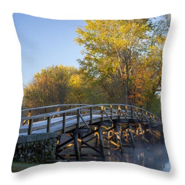 Old North Bridge Throw Pillow by Brian Jannsen