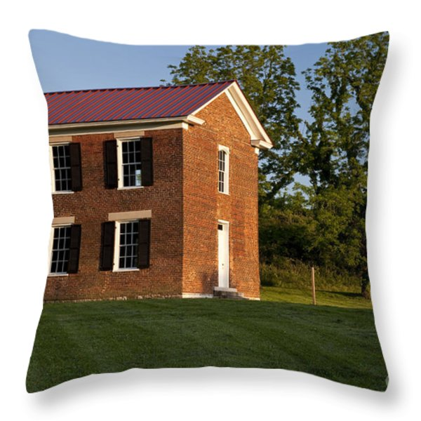 Old Schoolhouse Throw Pillow by Brian Jannsen
