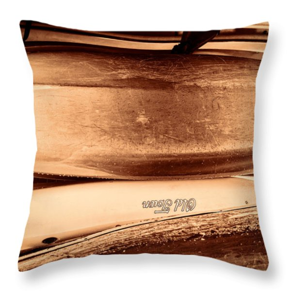 Old Town Canoes Throw Pillow by Bob Orsillo