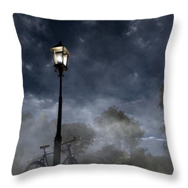 Ominous Avenue Throw Pillow by Cynthia Decker