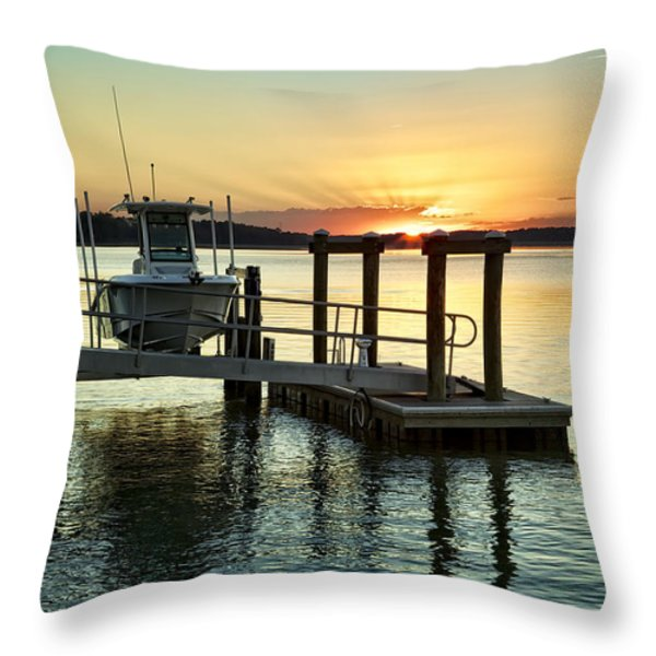 On The Waterfront Throw Pillow by Phill  Doherty