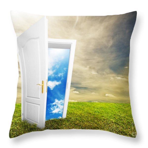 Open Door To New Life Throw Pillow by Michal Bednarek