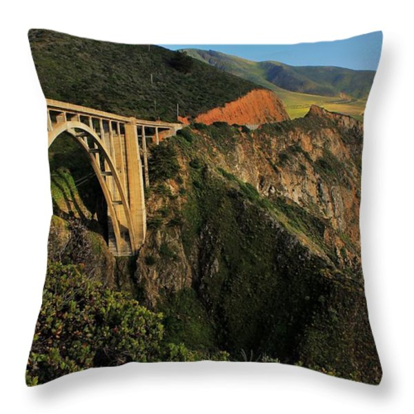 Pacific Coast Highway Throw Pillow by Benjamin Yeager
