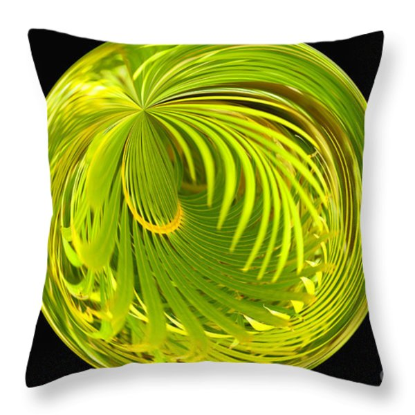 Palm Abstract Throw Pillow by Cheryl Young