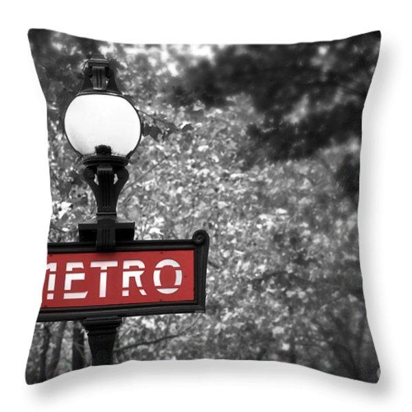 Paris metro Throw Pillow by Elena Elisseeva