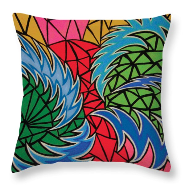 Patience Throw Pillow by Mike Manzi