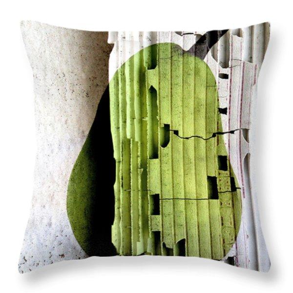 Pear Throw Pillow by Elena Nosyreva