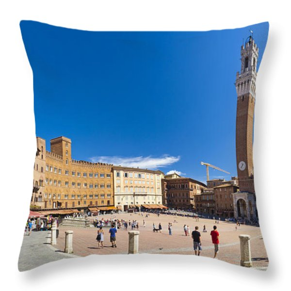 Piazza del Campo Throw Pillow by Sebastian Wasek