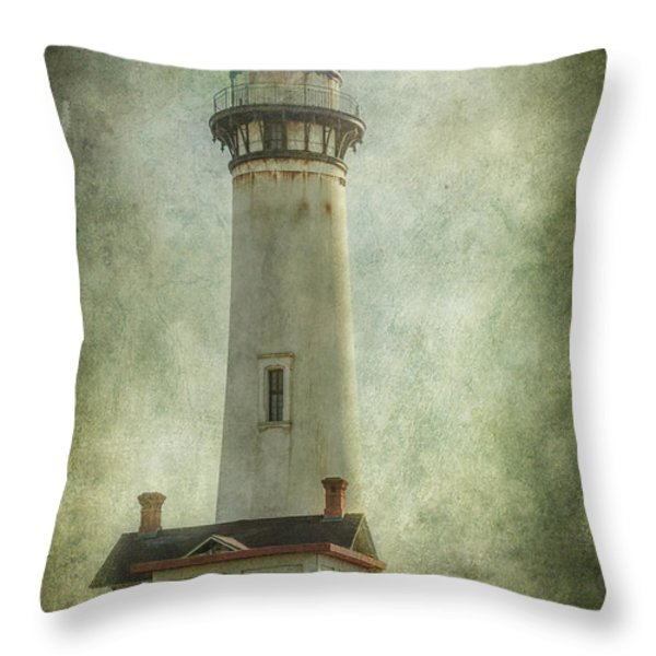 Pigeon Point Light Station Throw Pillow by Erik Brede