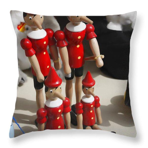 Pinocchio Throw Pillow by Craig B