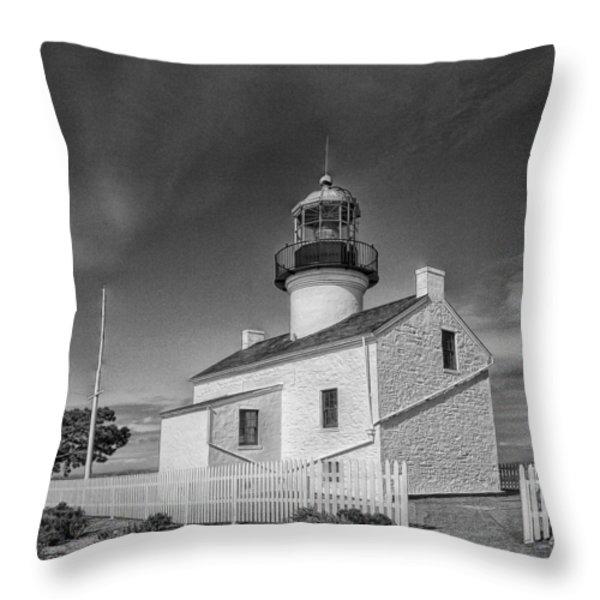 Point Loma Lighthouse Throw Pillow by Hugh Smith