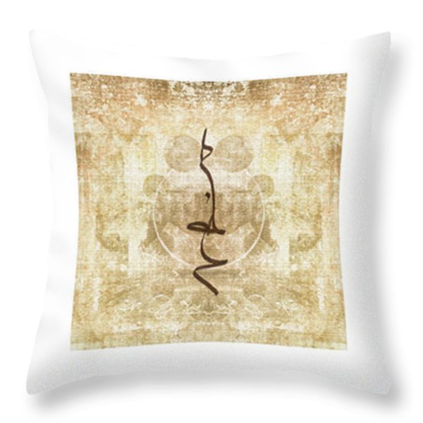 Prayer Flag Triptych Throw Pillow by Carol Leigh