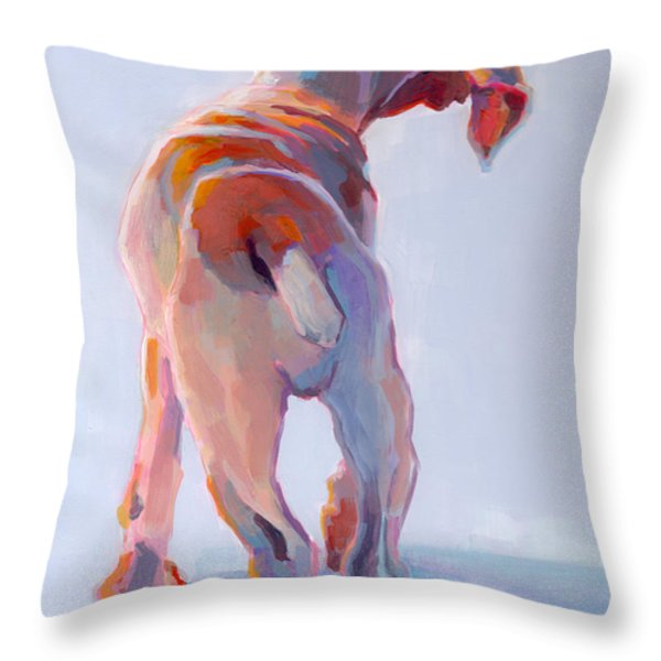 Precocious Throw Pillow by Kimberly Santini