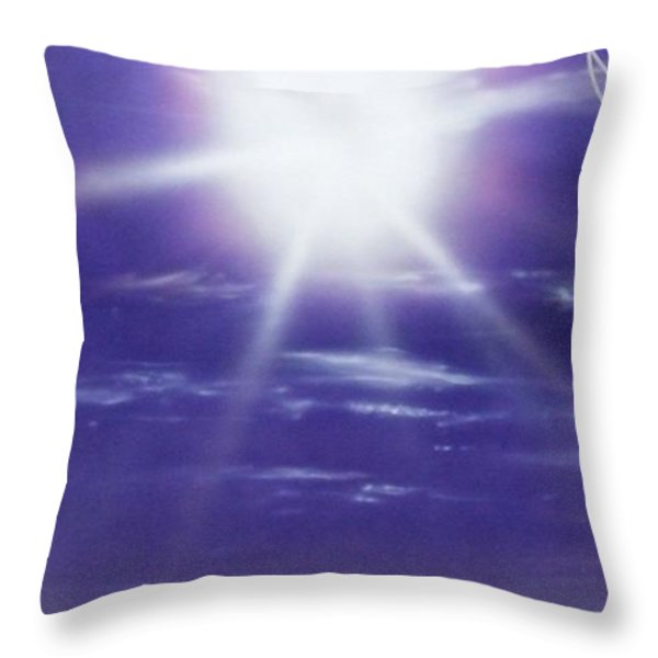 'purple Aura' Throw Pillow by Christian Chapman Art