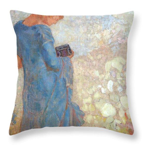 Redon's Pandora Throw Pillow by Cora Wandel