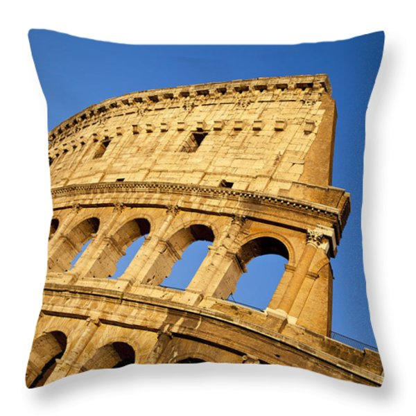 Roman Coliseum Throw Pillow by Brian Jannsen