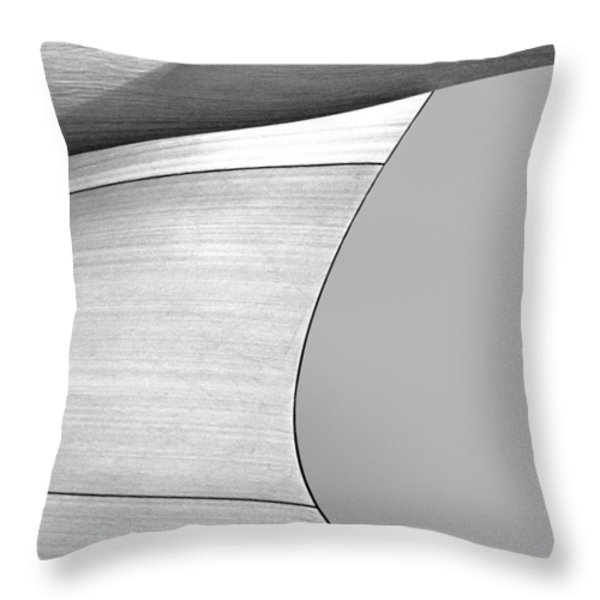 Sailcloth Abstract Number 4 Throw Pillow by Bob Orsillo