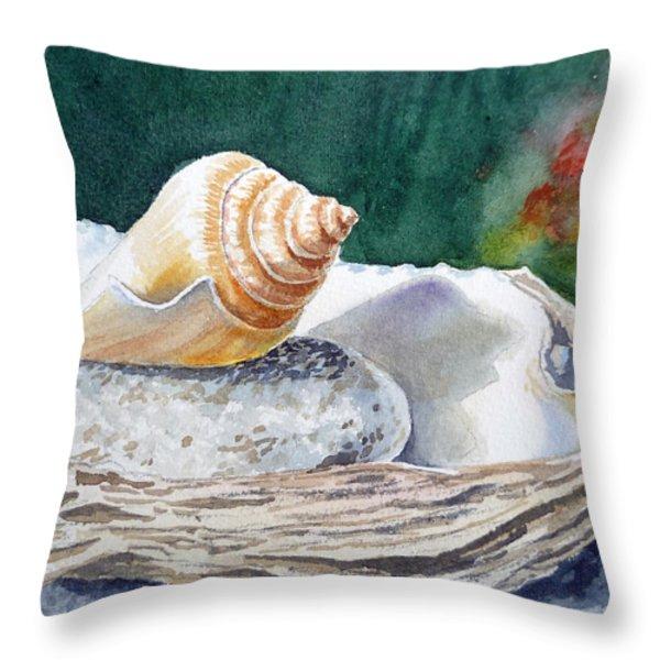 Sea Shells Throw Pillow by Irina Sztukowski