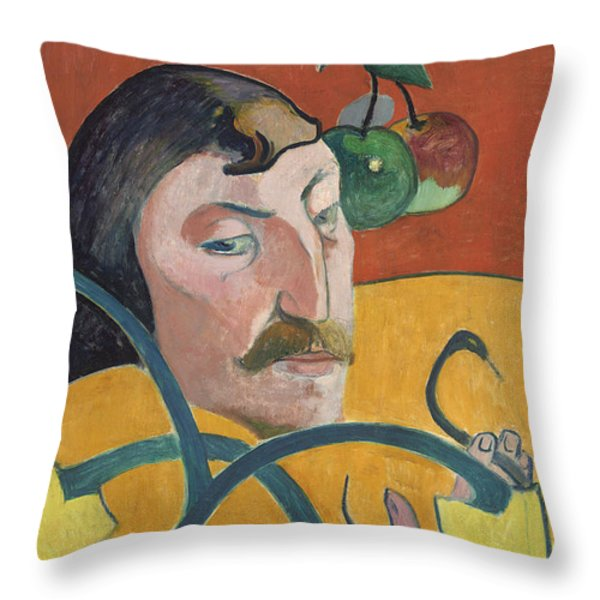 Self Portrait Throw Pillow by Paul Gauguin